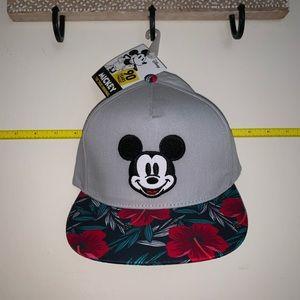 NWT Floral Brim Mickey Hat